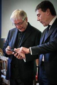 Rettore Egidi e Gianluca Monteleone